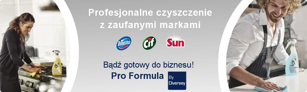 Produkty Pro Formula by Diversey to polaczenie znanych marek i profesjonalnych preparatow Badz gotowy do biznesu i skup sie na tym co dla Ciebie najwazniejsze