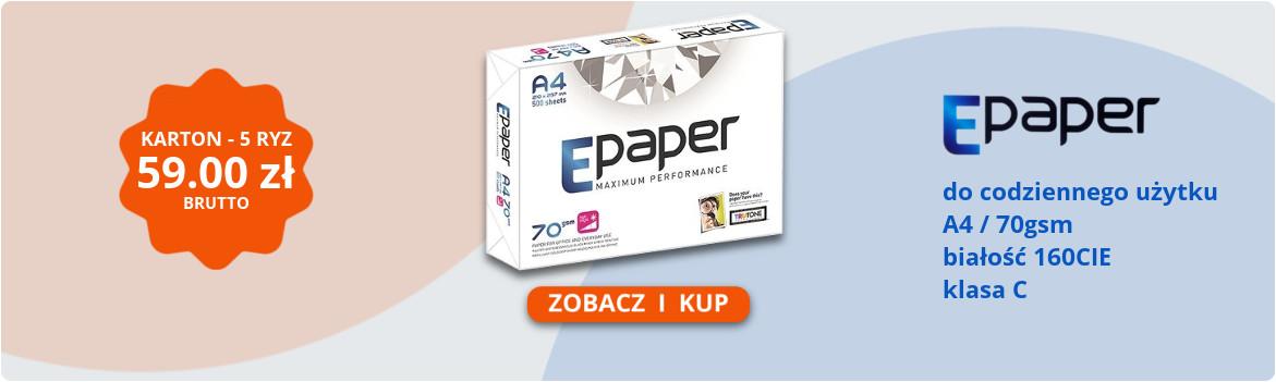 Super Cena na papier kserograficzny Epaper A4 70g ekonomiczny klasa C Skorzystaj z najnizszej ceny i zredukuj koszty drukowania
