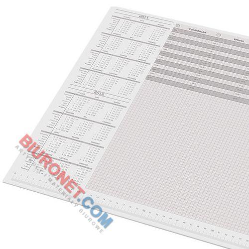 Biuwar uniwersalny Panta Plast, duży blok 30 kartek, podkładka na biurko z kalendarzem 590 x 395 mm (A2)