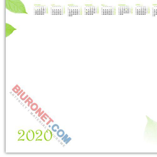 Biuwar z kalendarzem 2022 Liść, podkładka na biurko, blok 50 kartek 41 x 60 cm