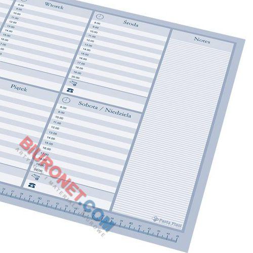 Biuwar z planem tygodniowym Panta Plast, blok 30 kartek, podkładka na biurko 47 x 33 cm
