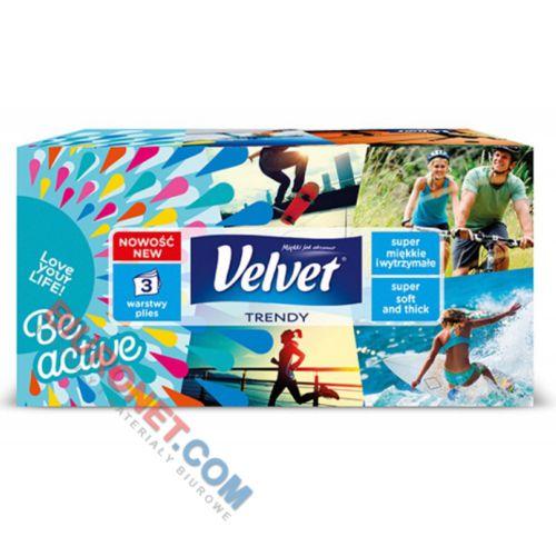 Chusteczki higieniczne Velvet Lifestyle Trendy, 3 warstwy, w pudełku prostokątnym
