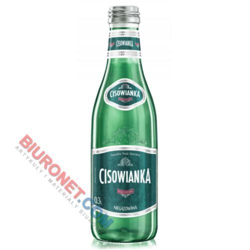 Cisowianka, woda mineralna w szklanych butelkach [0,3L x 24 sztuki] niegazowana