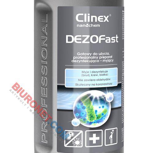 CLINEX DEZOFast, płyn dezynfekujący i myjący, do powierzchni, wirusobójczy