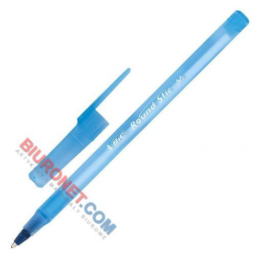 Długopis BIC Round Stick M 1.0mm, 60 sztuk, jednorazowy ze skuwką