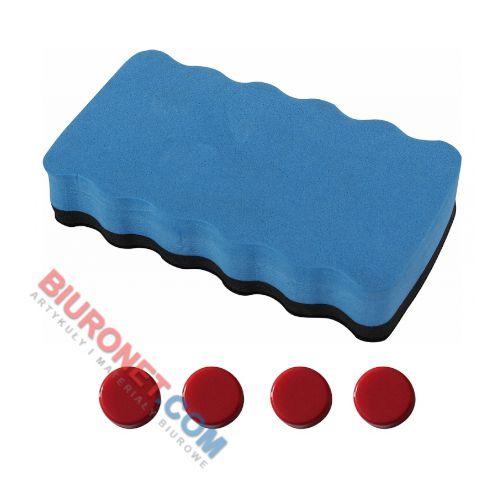 Flipchart na trójnogu Office Products, tablica suchościeralna magnetyczna 70x100 cm, z półką i wyciąganymi ramionami wysokość do 185 cm