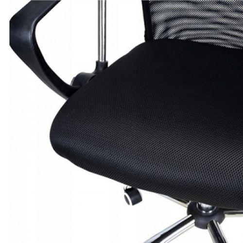 Fotel biurowy Corfu 2 Office Products, obrotowy, mechanizm TILT, tkanina membranowa - siatka i ekoskóra czarny