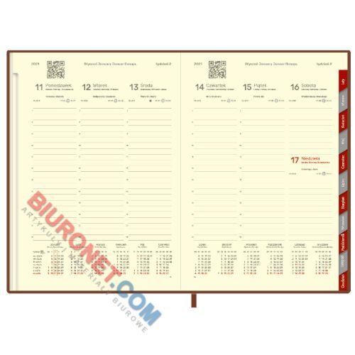 Kalendarz 2018, książkowy B5 z registrami