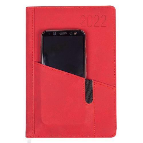 Kalendarz książkowy 2020 O.Diary Saturn A5, z kieszonką na telefon, rozkład dzienny
