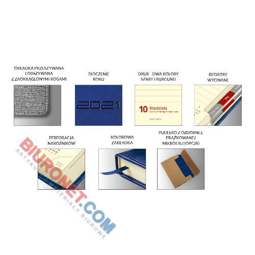 Kalendarz książkowy 2021, format A5, rozkład dzienny