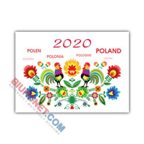 Kalendarz wiszący 2020, trójdzielny Exclusive, motyw Folk