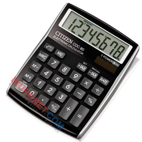 Kalkulator biurowy Citizen CDC-80, wyświetlacz 8-cyfrowy
