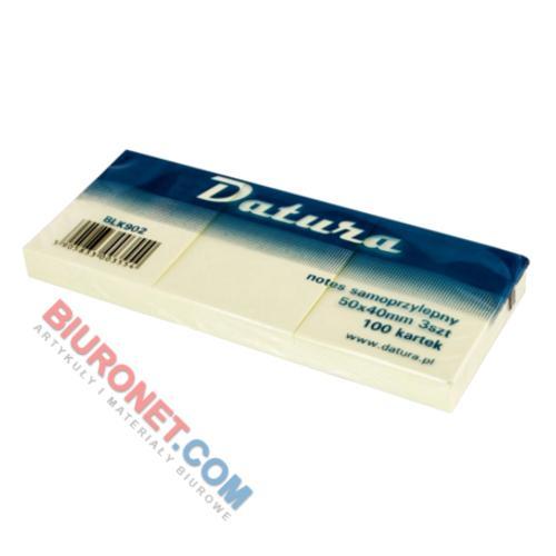 Karteczki samoprzylepne Datura, bloczek 100 kartek, kolor żółty