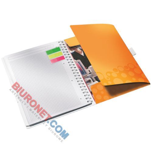 Kołonotatnik Leitz WOW Be Mobile A4, 80 kartek w kratkę, oprawa plastikowa