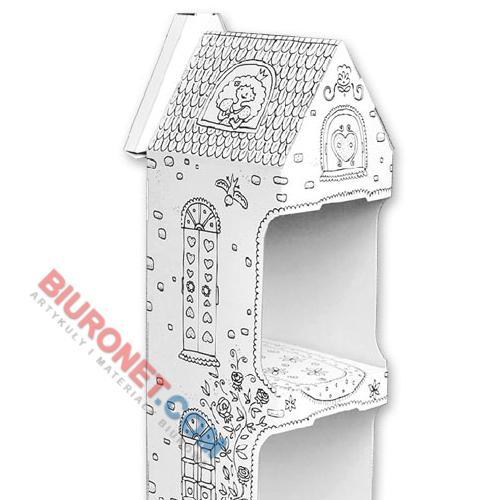 Kolorowanka 3D Monumi, kartonowy domek