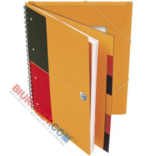 Kołozeszyt z teczką Oxford International Organiserbook A4+, 80 kartek, plastikowa oprawa