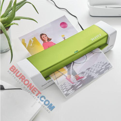 Laminator Leitz iLam Home Office A4, stylowe kolory z kolekcji WOW zielony