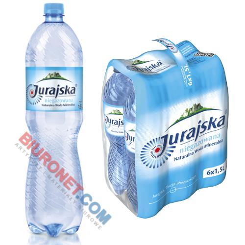 Naturalna woda mineralna Jurajska 1,5L, zgrzewka 6 sztuk niegazowana