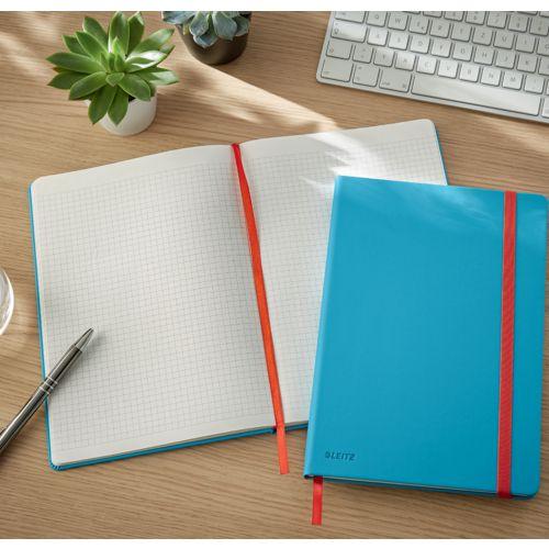 Notatnik Leitz Cosy Soft Touch B5, 96 kartek w kratkę, twarda okładka laminowana morski niebieski