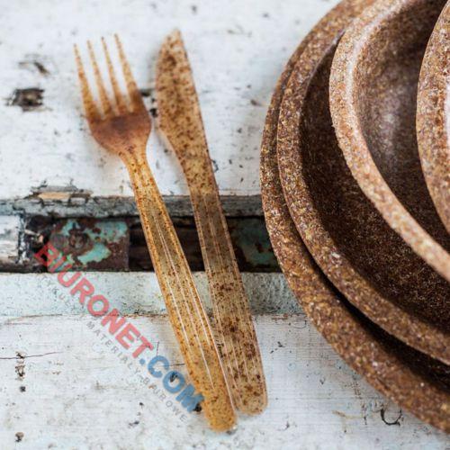 Noże biodegradowalne Biotrem, wykonane z otrąb pszennych i PLA