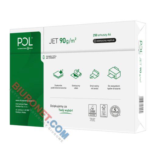 Papier do drukarki POLjet A4, gramatura 90g, klasa A+ 250 arkuszy