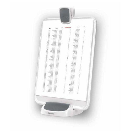 Podstawa na dokumenty lub tablet Fellowes I-Spire 5 w 1, suchościeralny copyholder biały