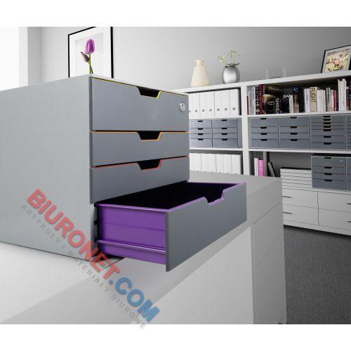 Pojemnik Durable Varicolor Safe, zamykana szafka z 4 szufladami