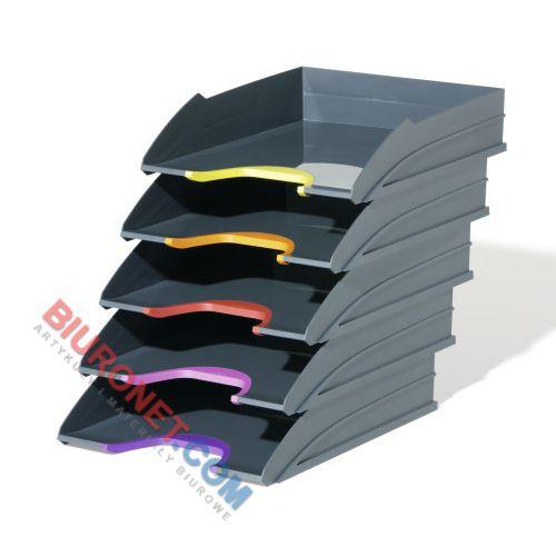 Półka na dokumenty Durable Varicolor A4, zestaw 5 tacek biurkowych