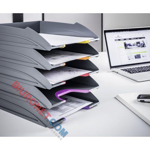 Półka na dokumenty Durable Varicolor, zestaw 5 tacek biurkowych A4