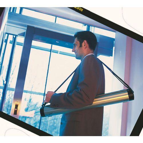 Prezenter Leitz Easy Flip, mobilny dyspenser, elektrostatyczna folia flipchart w zestawie 97 x 72 cm