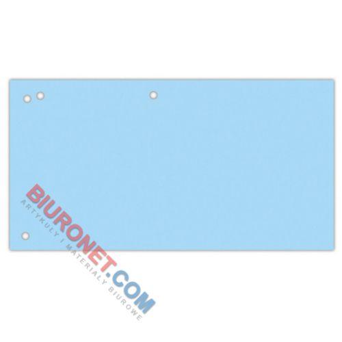 Przekładki podłużne Office Products 1/3 A4, kartonowe 240x105 mm, 100 sztuk mix kolorów