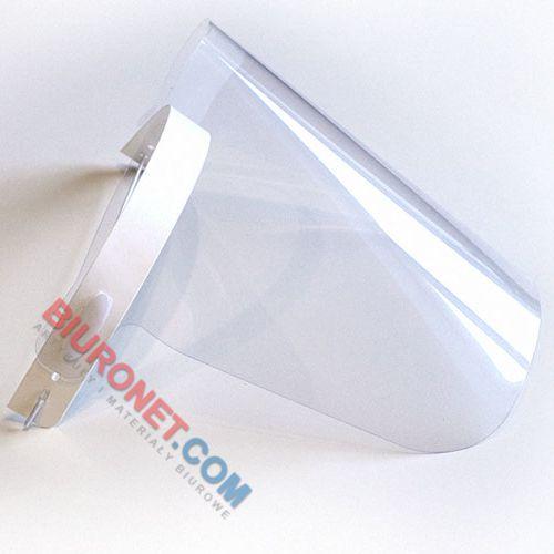 Przyłbica ochronna PVC na gumkę, wielokrotnego użytku