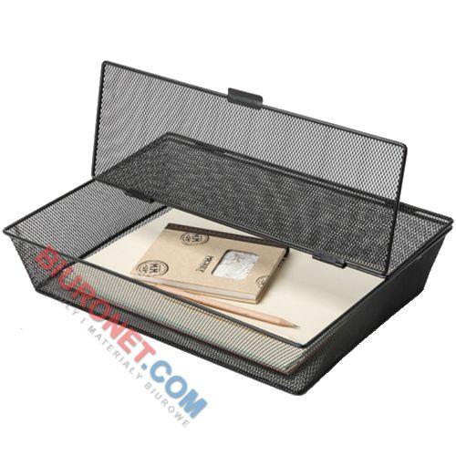 Q-Connect Office-Set, pojemnik na dokumenty A4, zamykany, metalowy