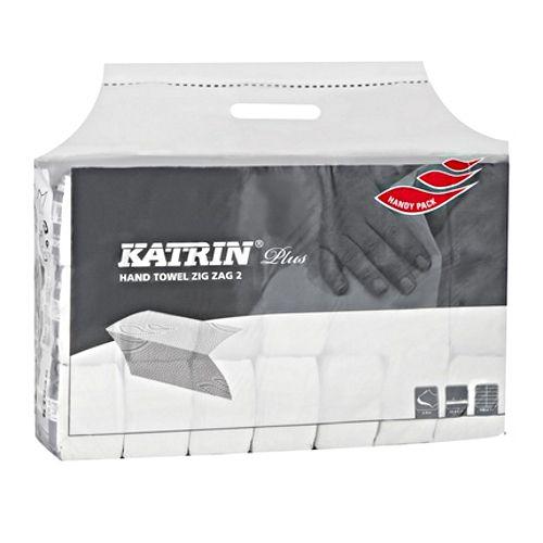 Ręczniki składane Katrin Plus ZZ 2 Handy Pack 100645, papierowe typu Z, do dozowników [2W, BI, CEL]