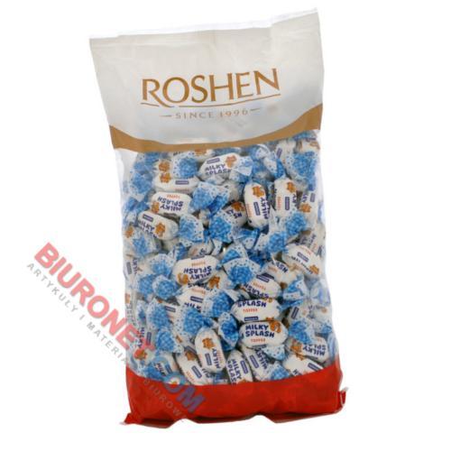 Roshen Milky Splash, cukierki toffI z mlecznym nadzieniem
