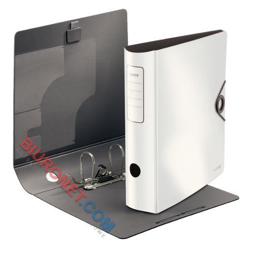 Segregator Leitz Active Solid A4/82 mm, plastikowy, z dźwignią i mechanizmem 180° biały