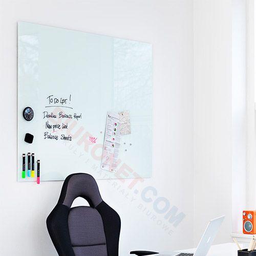 Tablica szklana suchościeralno magnetyczna 2x3 Naga 45x45 cm