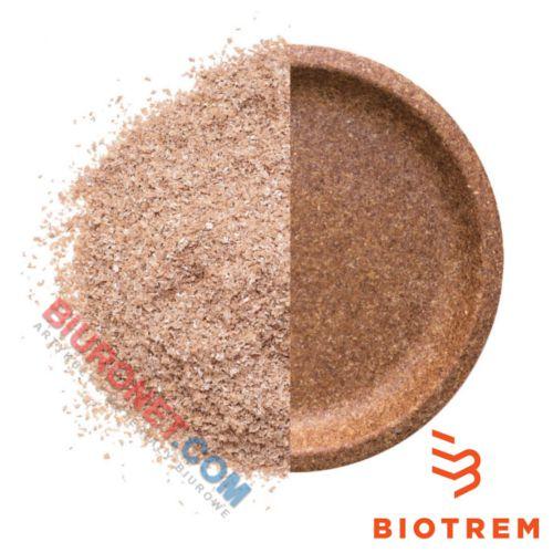 Talerze biodegradowalne Biotrem, średnica 20 cm, wykonane z otrąb pszennych