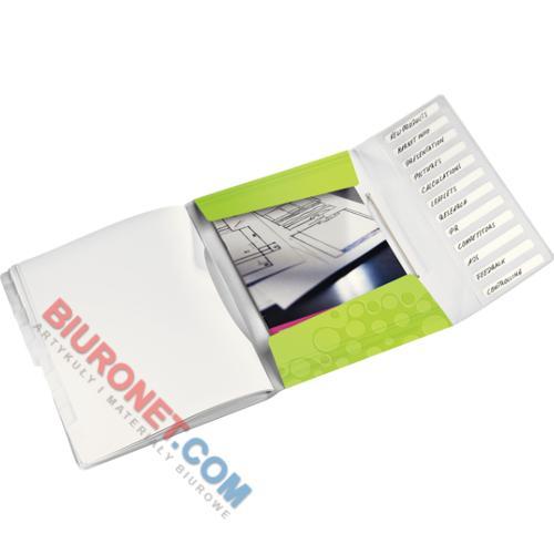 Teczka segregująca Leitz WOW, 12 kieszeni, plastikowa, do podpisu i sortowania