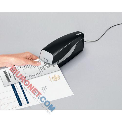 Zszywacz elektryczny Leitz NeXXt, zszywki E2 do 10 kartek, zasilanie sieciowe czarny