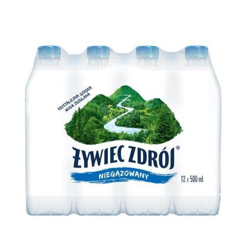 Żywiec Zdrój 0,5L x 12 sztuk, woda źródlana niegazowana