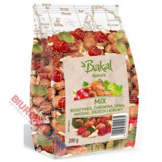 Bakal Natura Mix, mieszanka rodzynki sułtańskie, orzechy laskowe, migdały, pestki dyni i żurawina