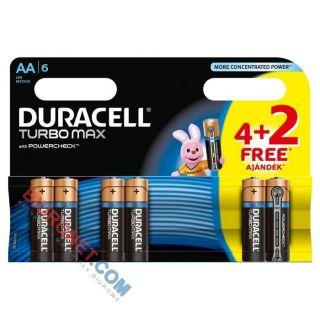 Baterie Duracell Turbo, paluszki o najdłuższym czasie działania, 4 sztuki