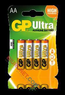 Baterie GP Ultra Alkaline, paluszki alkaliczne, 4 sztuki