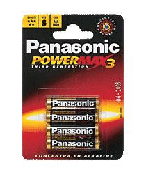 Baterie Panasonic, paluszki alkaliczne, blister 4 sztuki