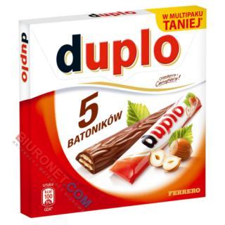 Batony Ferrero Duplo, wafle z orzechowym nadzieniem w czekoladzie