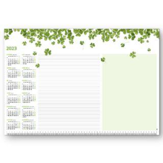 Biuwar blokowy z motywem Origami, podkładka na biurko z kalendarzem 2018, 50 kartek