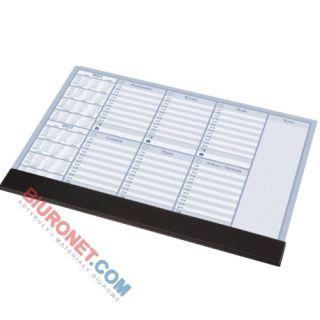 Biuwar z planem tygodniowym Panta Plast z listwą, blok 30 kartek, podkładka na biurko 47 x 33 cm