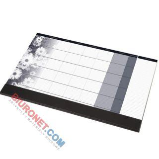 Biuwar z widokiem na miesiąc Panta Plast z listwą, blok 24 kartki, podkładka na biurko 47 x 33 cm