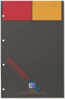 Blok biurowy A4+, Oxford Notepad, 80 kartek z perforacją, kartonowa oprawa w kratkę